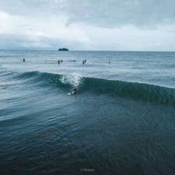 Man braving the huge waves in visayas | Photo by RS Ybañez