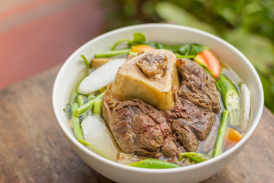 bulalo in a large bowl