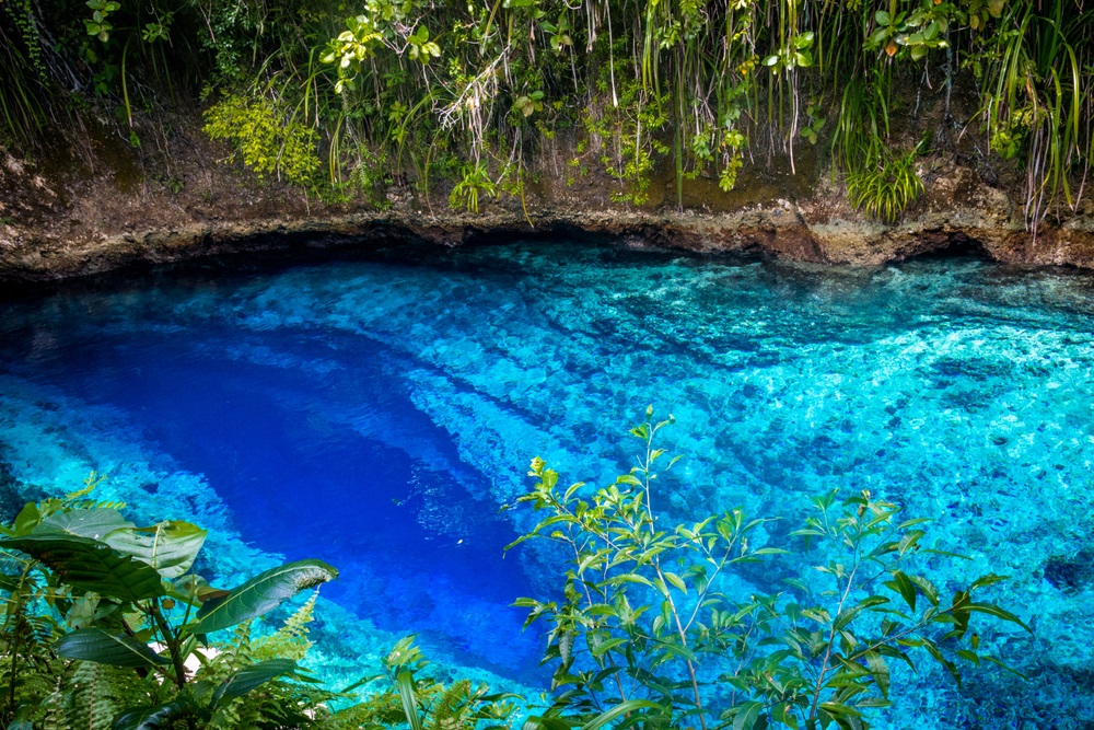 clear blue water of the enchanted river