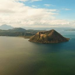 A clear view of the calm Taal Volcano