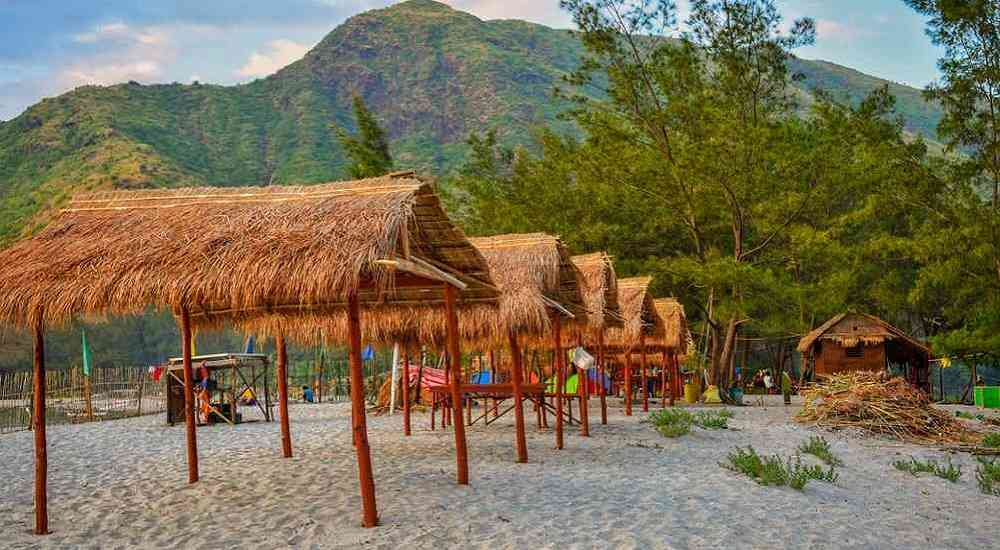 anawangin cove camping in philippines