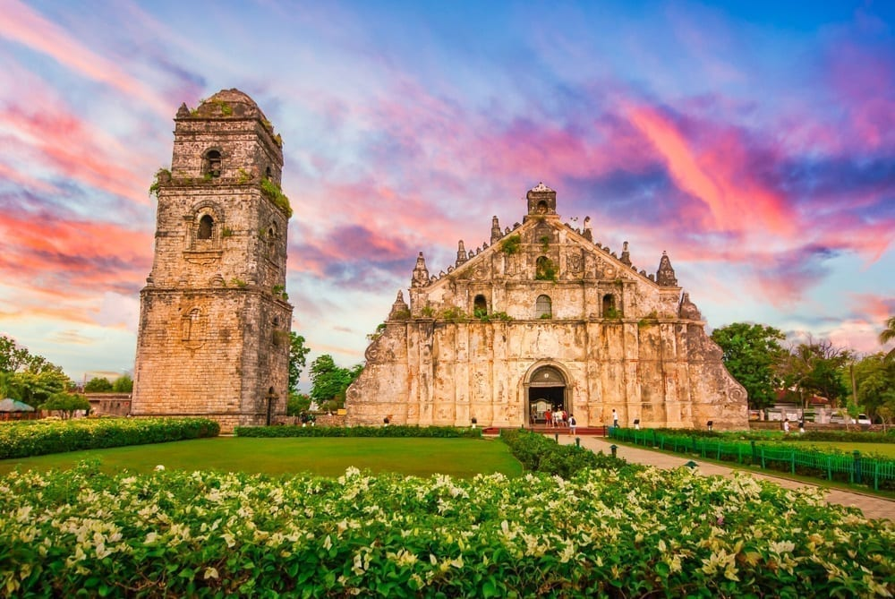facade of paoay church