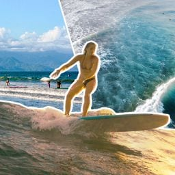 a girl surfing in the philippines