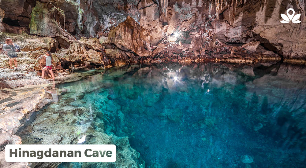 majestic view of hinagdanan cave