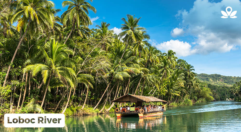 a cruise at the loboc river