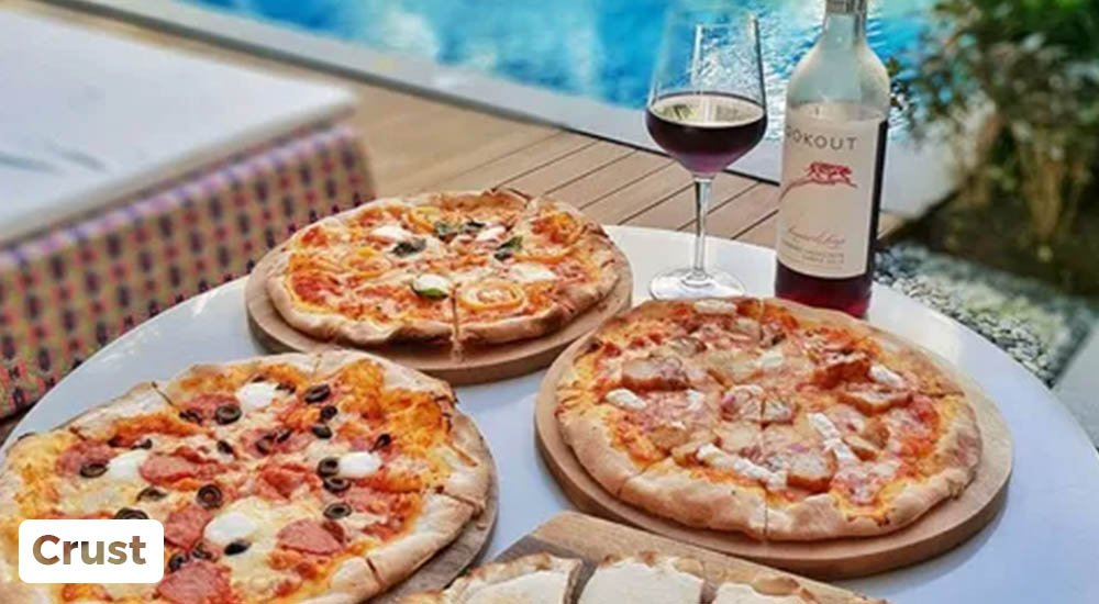 pizza by the pool at crust boracay