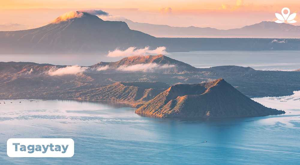 Stunning view of taal volcano and lake