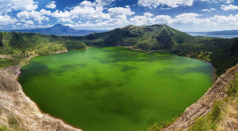 stunning view of taal volcano's crater