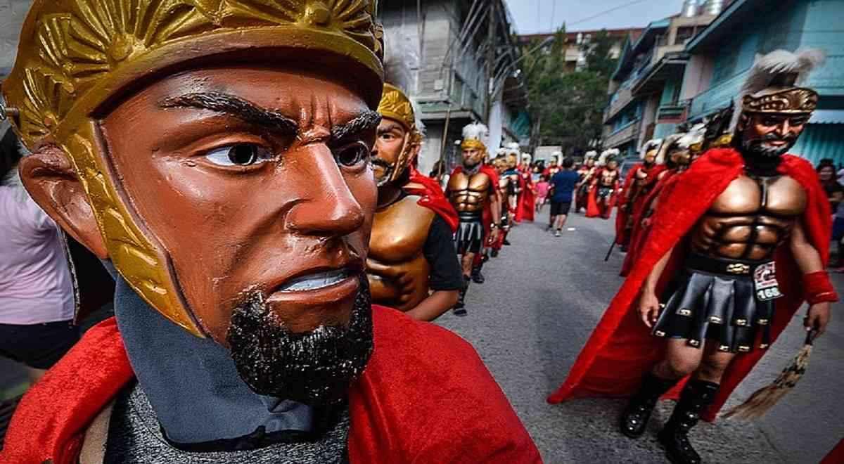 A Morion at Moriones Festival Marinduque