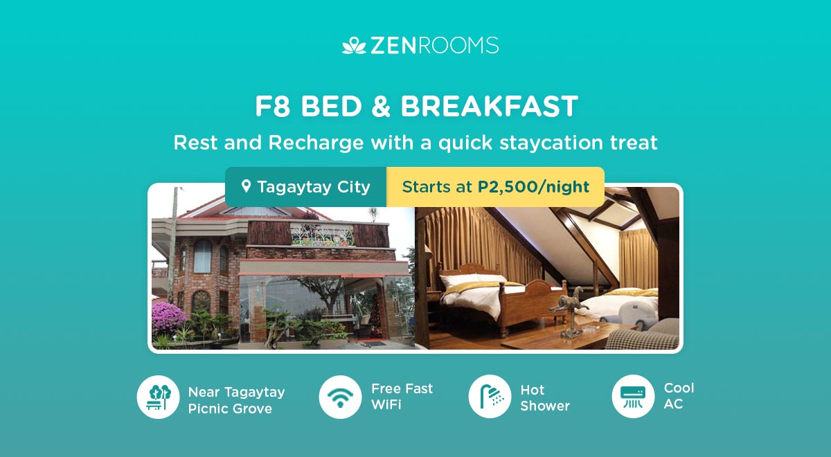 F8 Bed and Breakfast affordable tagaytay hotel
